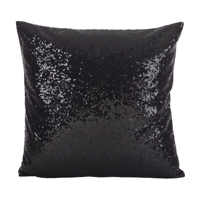 Nahush Glam Sequin Throw Pillow Color: Black