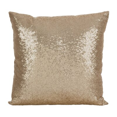 Alderamin Glam Sequin Throw Pillow Color: Champagne