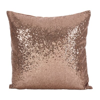 Alderamin Glam Sequin Throw Pillow Color: Copper