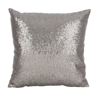Nahush Glam Sequin Throw Pillow Color: Pewter
