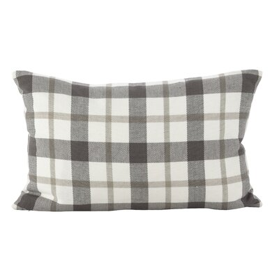 Lucerne Classic Plaid Print Cotton Lumbar Pillow