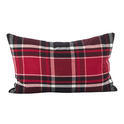 Ellery Tartan Plaid Print Cotton Lumbar Pillow
