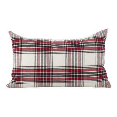 Almeda Tartan Plaid Traditional Cotton Lumbar Pillow