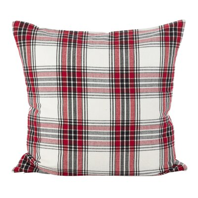 Almeda Tartan Plaid Traditional Cotton Throw Pillow