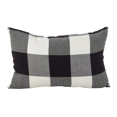 Corina Buffalo Check Classic Cotton Lumbar Pillow Color: Black