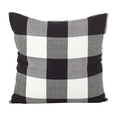Corina Buffalo Cotton Throw Pillow Color: Black