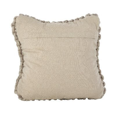Castillo Chunky Cable Knit Wool Throw Pillow Color: Fog