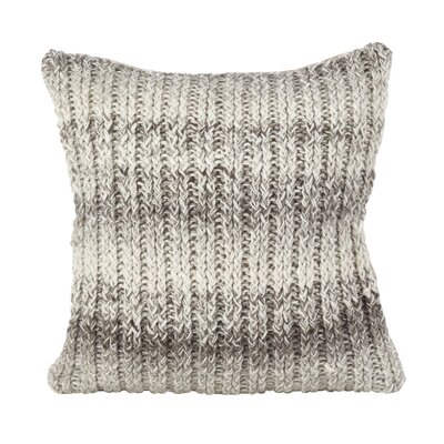 Castillo Hand Knit Ombre Wool Throw Pillow