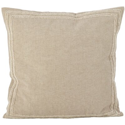 Riley Beaded Border Motif Cotton Throw Pillow