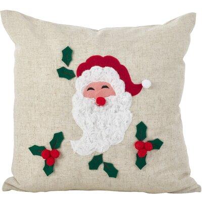 Houx De Noel Santa Claus 3D Holiday Christmas Throw Pillow