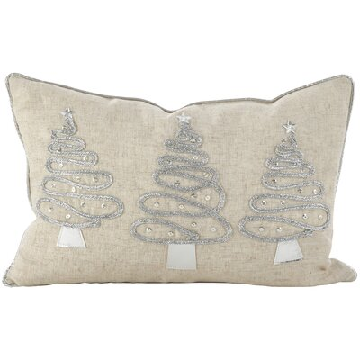 Holiday Christmas Tree Trio 3D Lumbar Pillow