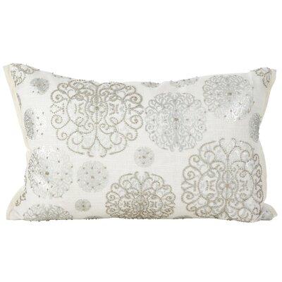 Edson Beaded Medallion Cotton Lumbar Pillow