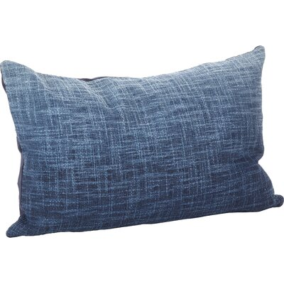 Lancaster Ombre Cotton Lumbar Pillow Color: Navy Blue