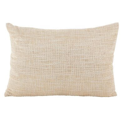 Mirada Woven Metallic Cotton Lumbar Pillow Color: Gold