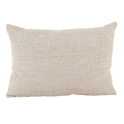 Mirada Woven Metallic Cotton Lumbar Pillow Color: Silver