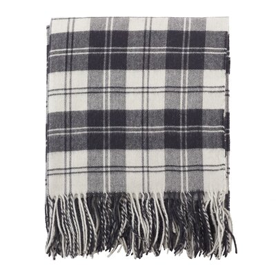 Nihar Classic Plaid Wool Throw