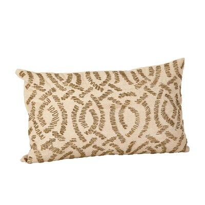 Beaded Cotton Throw Pillow Color: Bronze