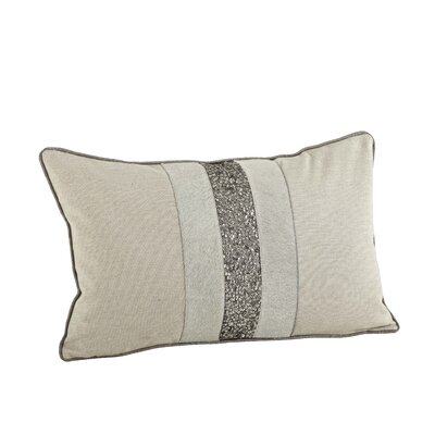 The Posh Beaded Cotton Lumbar Pillow