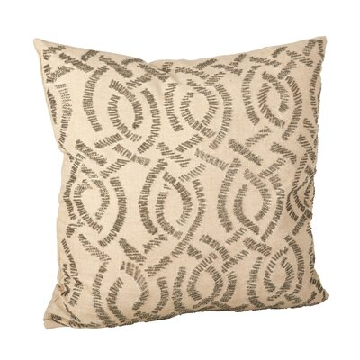 Eloise Cotton Throw Pillow Color: Pewter