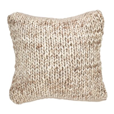 Deimer Chunky Wool Cable Knit Throw Pillow