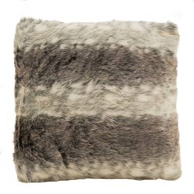 Baxter Plush Soft Poly Filled Faux Fur Throw Pillow