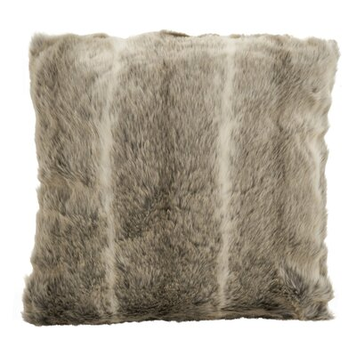 Roux Plush Poly Luxe Filled Faux Fur Throw Pillow