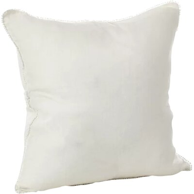 Tameka Linen Throw Pillow Color: Ivory