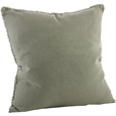 Tameka Linen Throw Pillow Color: Olive