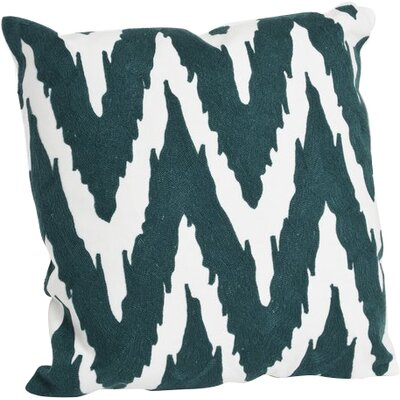 Brasileiro 100% Cotton Throw Pillow Color: Teal