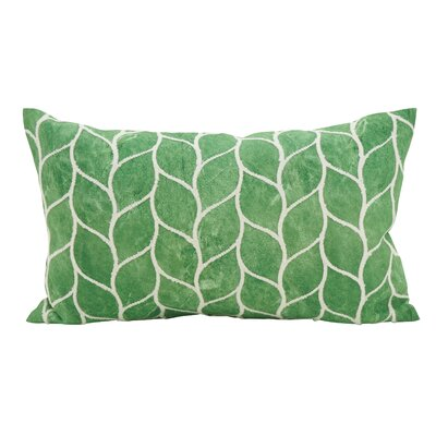 Millstone Embroidered Leaf Down Filled Lumbar Pillow