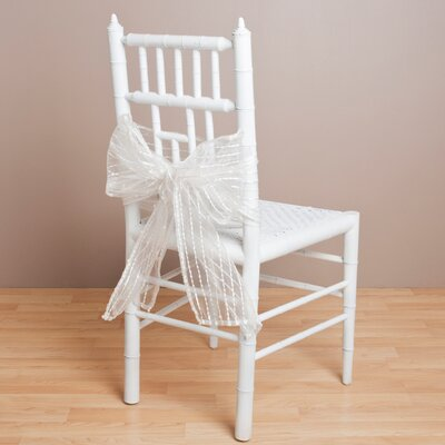 Sheer Fuzzy Stripes Chair Tie Color: Ivory