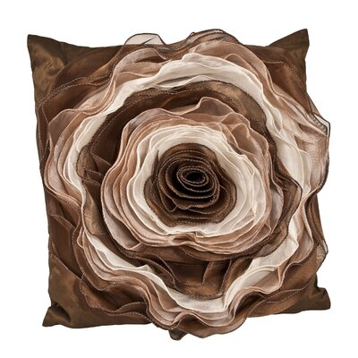 Rose Throw Pillow Color: Coffee