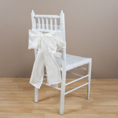 Crushed Chair Tie Color: Ivory