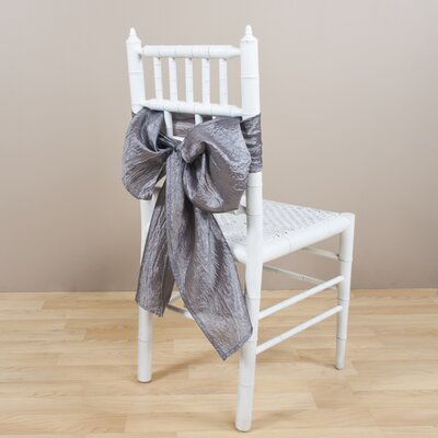 Crushed Chair Tie Color: Pewter