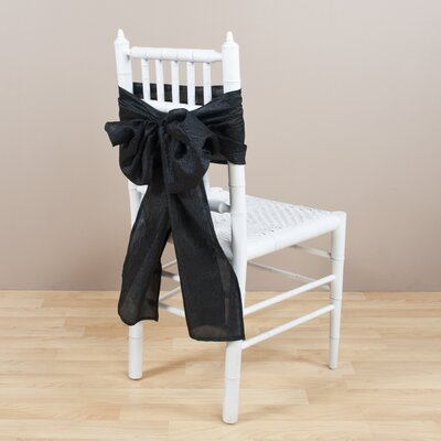 Crushed Chair Tie Color: Black