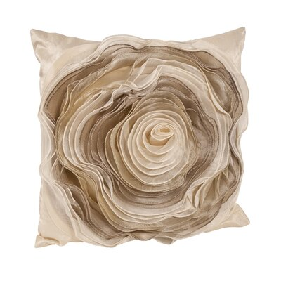 Rose Throw Pillow Color: Champagne