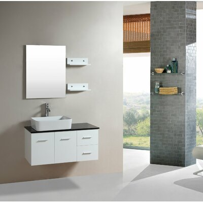 35.5 Single Floating Bathroom Vanity Set with Miror