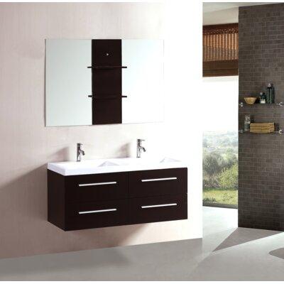 48 Double Floating Bathroom Vanity Set with Mirror