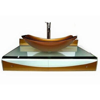 31 Single Floating Bathroom Vessel Vanity Set