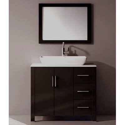 Gainesville 36 Single Free Standing Bathroom Vanity Set with Mirror