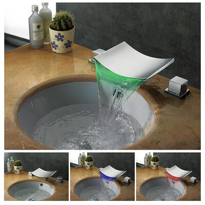 Double Handle Widespread Vessel Sink Faucet