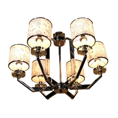 6-Light Shaded Chandelier