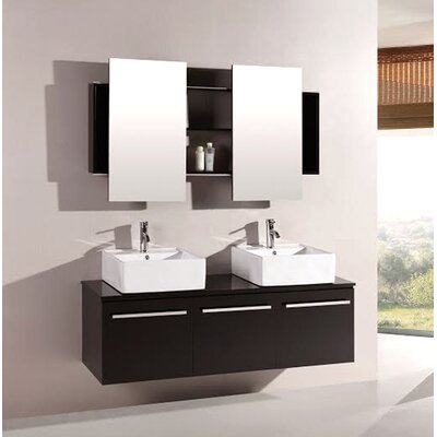 Agni 59.25 Double Vanity Set with Mirror