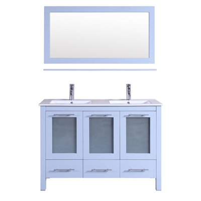 48 Double Bathroom Vanity with Mirror