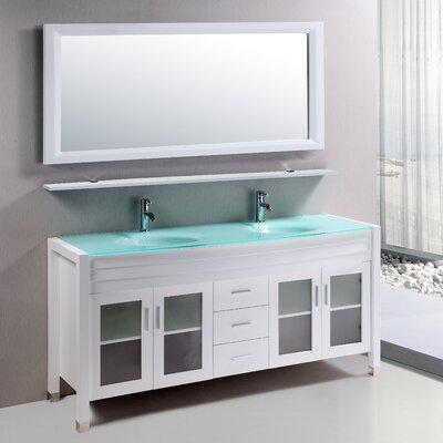 Amriel 59 Double Bathroom Vanity Set with Mirror