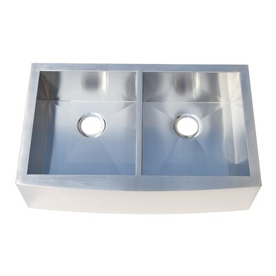 32.88 x 21 Double Bowl Farmhouse Kitchen Sink
