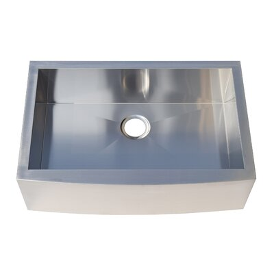 31 x 20 Farmhouse Apron Front Stainless Steel Single Bowl Kitchen Sink