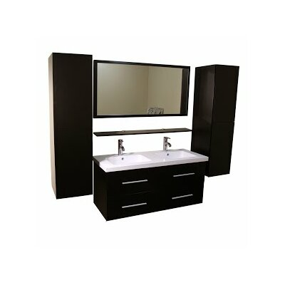 48 Double Bathroom Vanity Set with Mirror