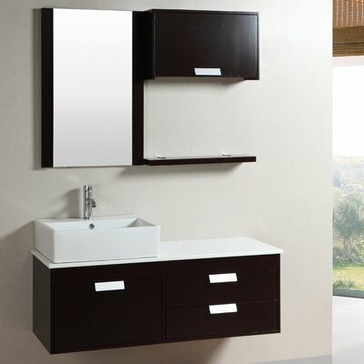 51.5 Single Bathroom Vanity Set with Mirror