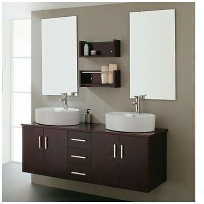 59 Double Bathroom Vanity Set with Mirror